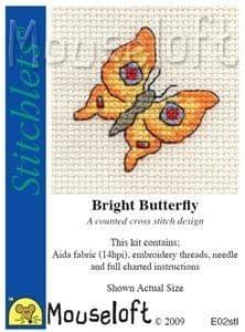 Mouseloft Bright Butterfly Stitchlets cross stitch kit